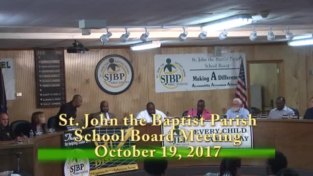 School Board Meeting 2017-10-19
