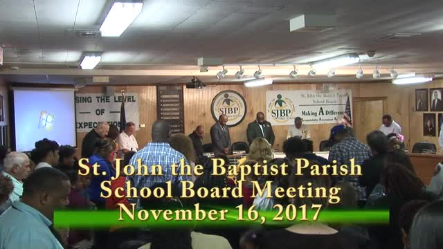 School Board Meeting 2017-11-16