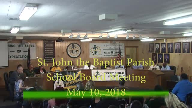 School Board Meeting May 10, 2018