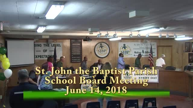 School Board Meeting June 14, 2018