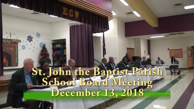 School Board Meeting December 13, 2018