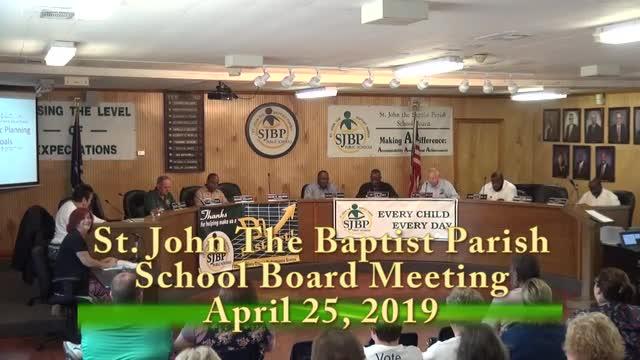 School Board Meeting 04/25/2019