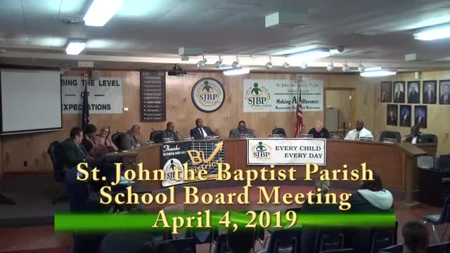School Board Meeting 04/04/2019