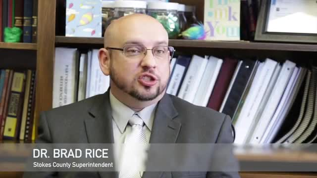 Video featuring Dr. Brad Rice, Superintendent of Stokes County Schools