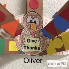 Oliver's Thankful Turkey