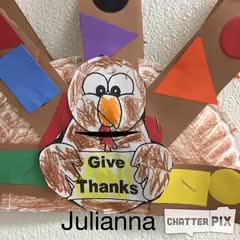 Julianna's Thankful Turkey