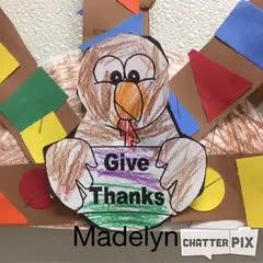 Madelyn's Thankful Turkey