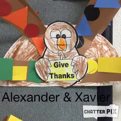 Alexander and Xavier Thankful Turkey