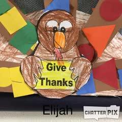 Elijah Thankful Turkey