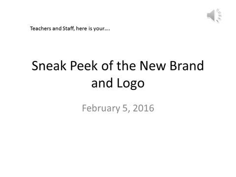 Sneak Peek for Teachers and Staff