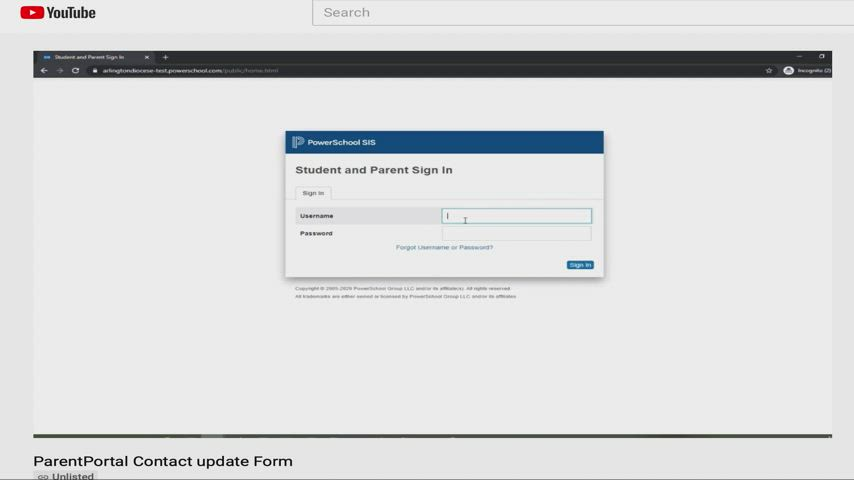 How to update your information and your contacts in the PowerSchool Parent Portal