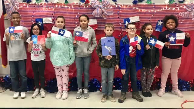 Texas Independence celebration at Raye-Allen Elementary School