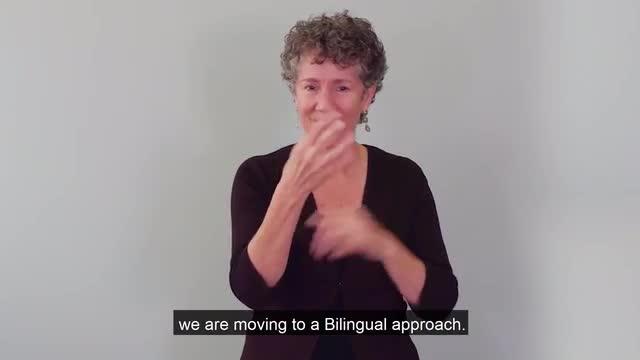 Parent information about bilingual ASL translation by Meme Kerr.