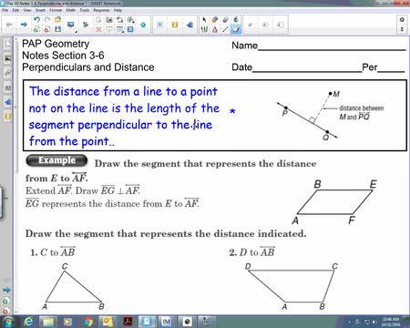 10-21 perpendicular distance