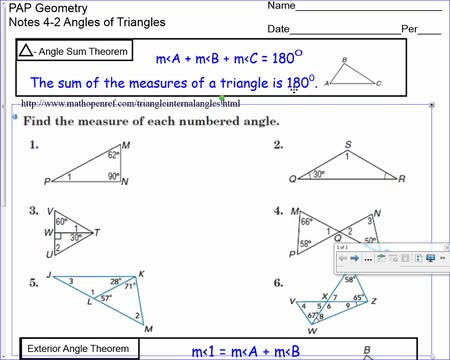 10-27 Angles of triangles