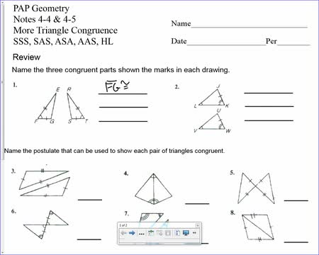 11-1 more of triangle congruence