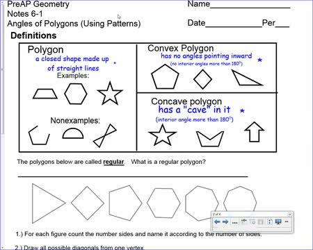 11-28 angles of polygons