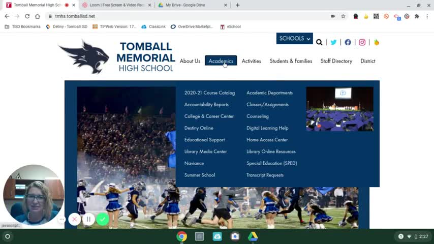 TMHS Library Virtual Open House Fall 2020 Video