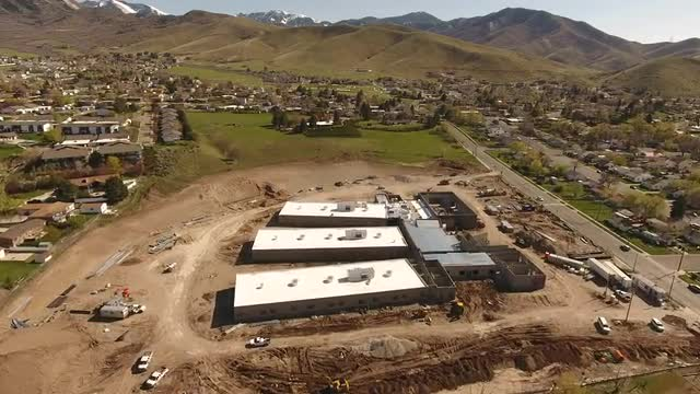 Drone Footage New Building April 2017