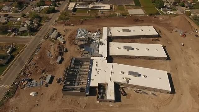 Drone Footage new building May 2017