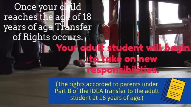 This is a video about students who turn 18 years old are considered adult students.