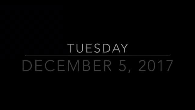 Dec 5 2017 Announcements