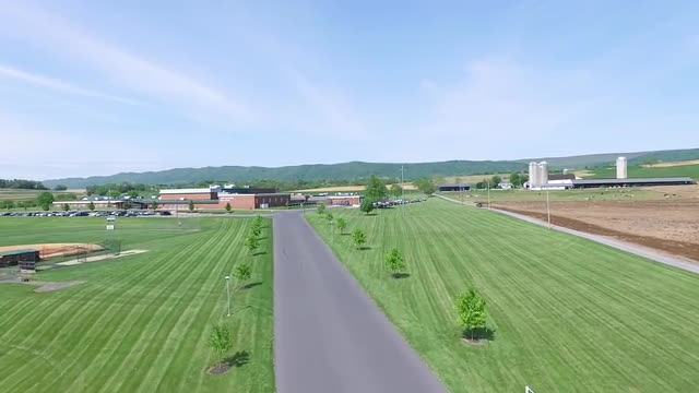Drone footage of JBHS