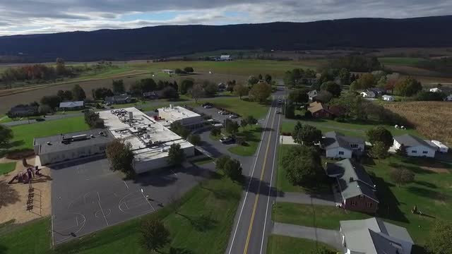 Drone footage of Mountain View elementary