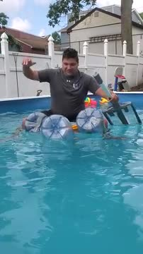 Recycled raft test