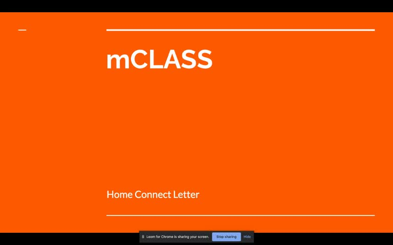 Understanding your student's mClass Home Connect Letter