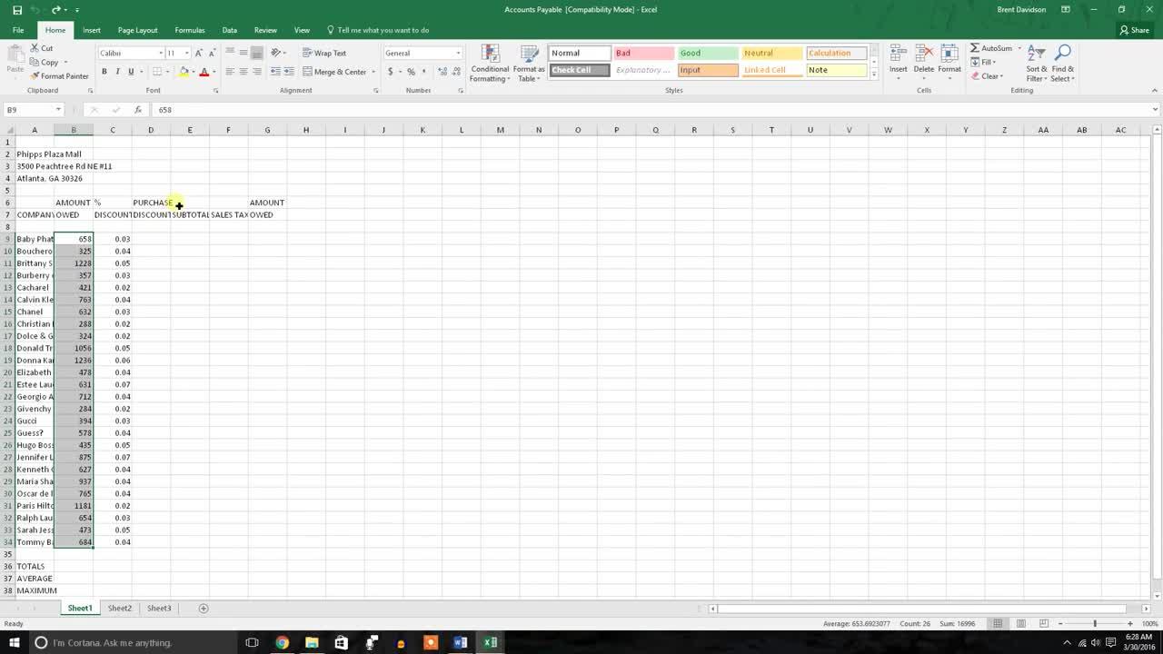 Excel: Increase / Decrease Decimal & Change to a Percentage | UME
