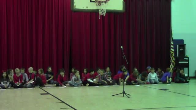 Veteran's Day Assembly with Ms. Stewart's and Ms. McCorkle's 3rd Grades