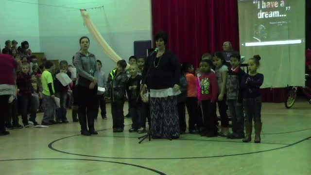 Mrs. Jordan and Mrs. Maynard's 2nd Grade Assembly (MLK Day) 1/15/16 Part 1