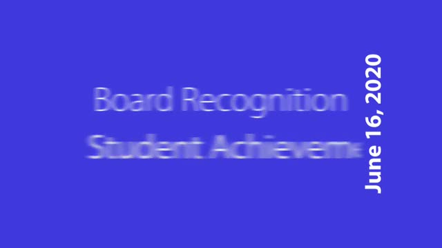 Video showing photos and captions of student achievement