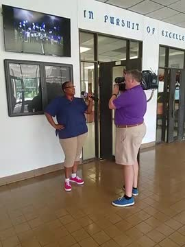 Custodian Nicole Franklin shares what she likes about St. John the Baptist Parish