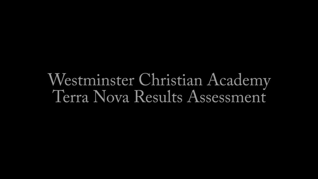 How to Read Terra Nova Test Results | Westminster Christian