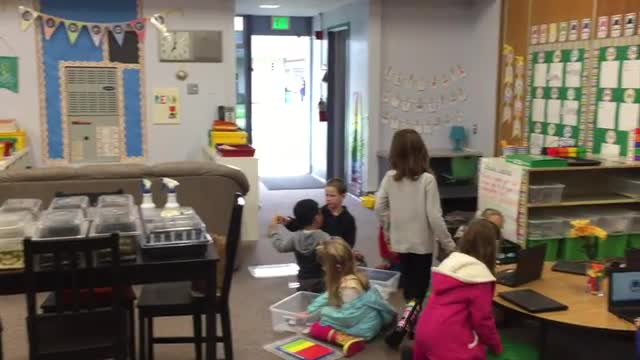 Blended Learning Station-Rotation with Clegg Kindergarten Students