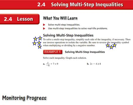 Alg I Ch 2-4 Solving multi-step inequalities Notes | Whitehouse Independent School District