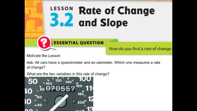 Adv Lesson 3-2 Rate of change notes   Whitehouse Independent School