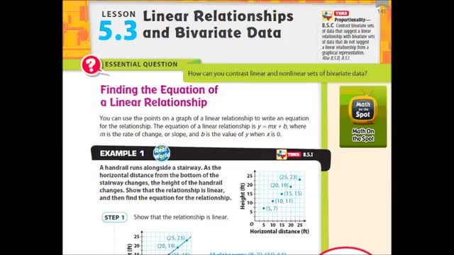 Adv Lesson 5 3 Bivariate Data Whitehouse Independent School District