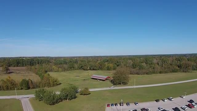 Flying the Drone over the HS