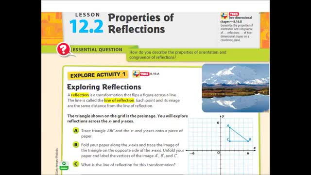 Adv Lesson 12 2 Properties Of Reflections Whitehouse
