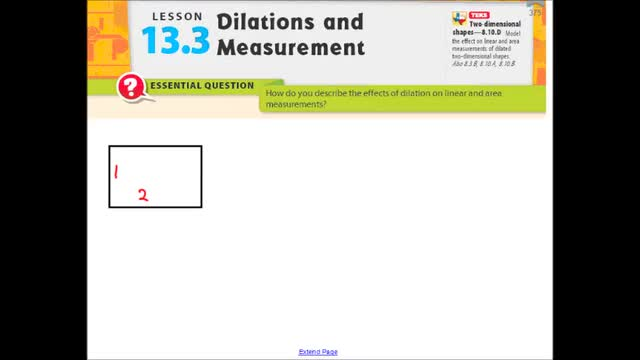 Adv Lesson 13-3 Dilations and Measurement