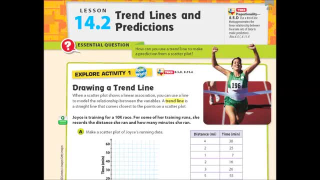 Adv Lesson 14-2 Trend lines and Predictions