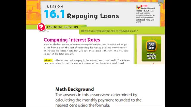 Adv Lesson 16-1 Repaying loans