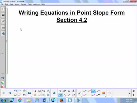 Writing Equations In Point Slope Form 42 Whitehouse Independent