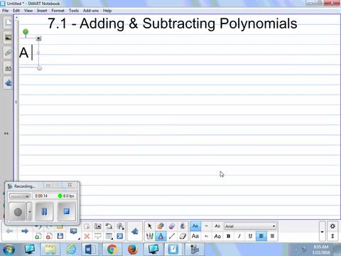 71 Notes Adding And Subtracting Polynomials Whitehouse