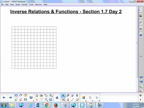 1.7 Notes 2 - Inverse Relations and Functions