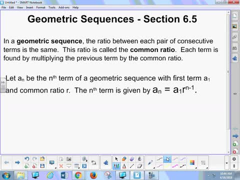 6.5 Notes - Geometric Sequences