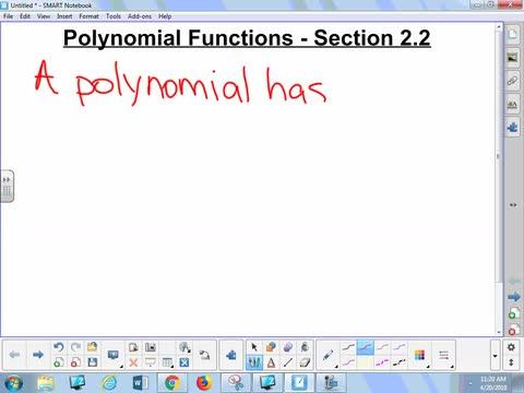 2.2 Notes - Polynomials